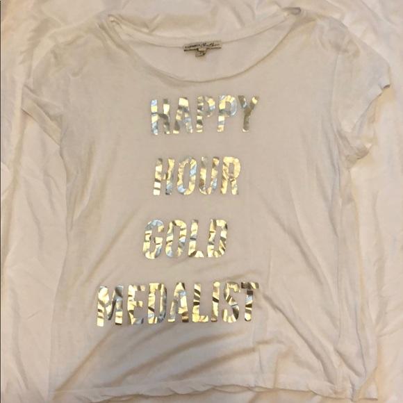Express Tops - Express white short sleeve t-shirt